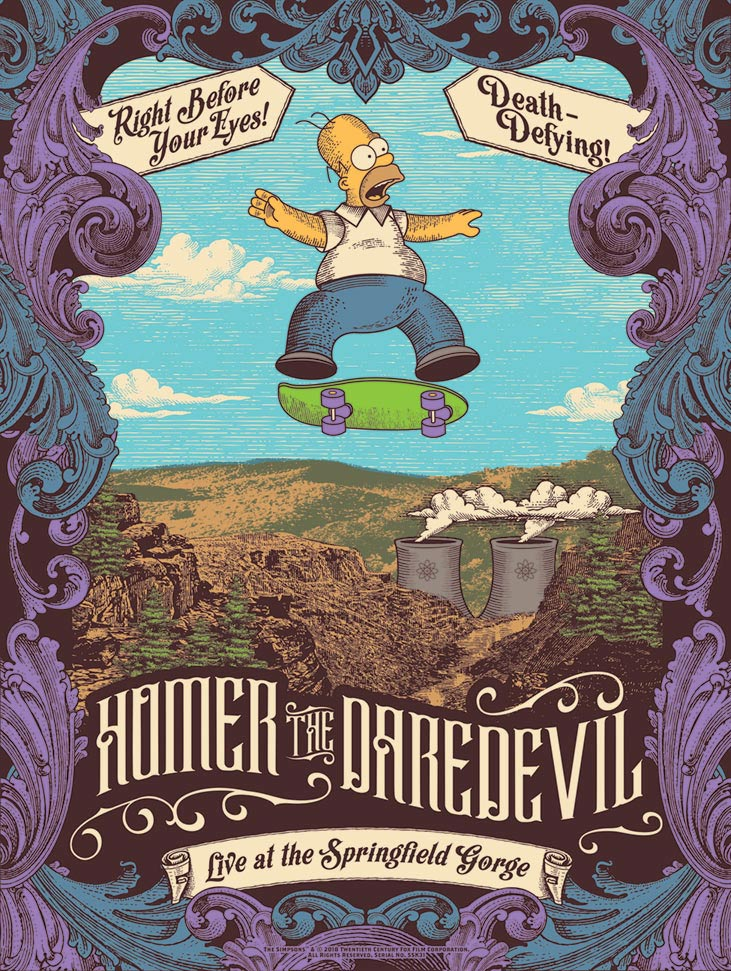 Homer the Daredevil by Justin Helton | The Simpsons