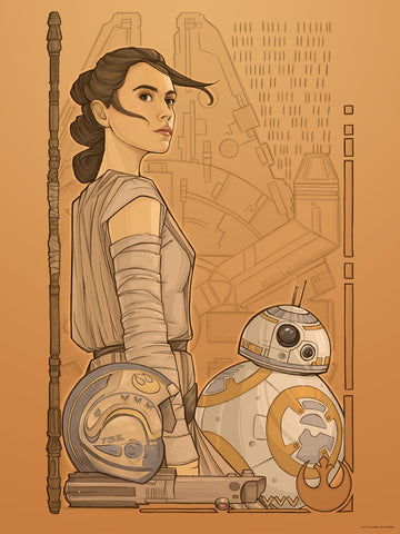 Beyond Jakku by Karen Hallion | Rey & BB-8 Star Wars The Force Awakens