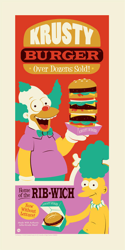 Krusty Burger by Dave Perillo