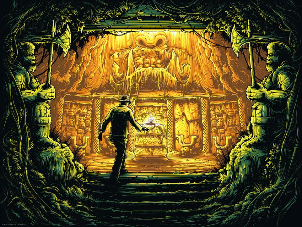 There is Nothing to Fear Here by Dan Mumford | Indiana Jones