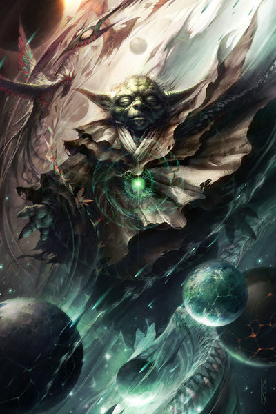 Star Wars One With The Light Yoda by Raymond Swanland