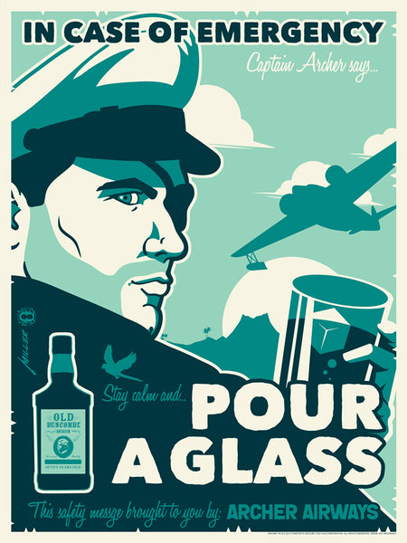 Officially licensed Archer silk screen print by Brian Miller