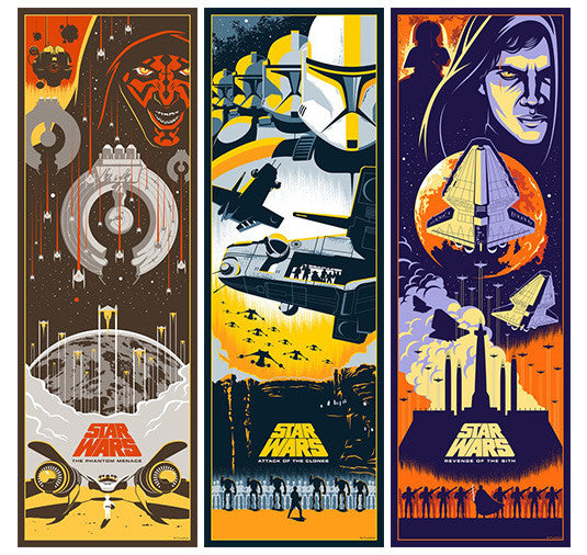 Star Wars Prequel Trilogy prints by Eric Tan | Bottleneck Gallery