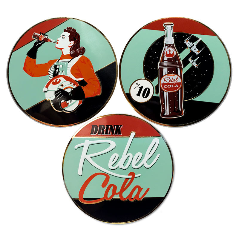 Rebel Cola Set of 3 Collectible Pin