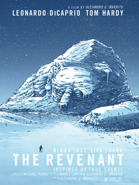 The Revenant movie poster print by Barry Blankenship
