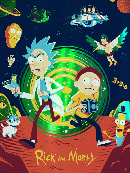 Rick and Morty by Dave Perillo foil variant
