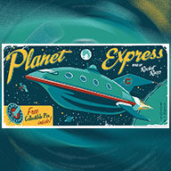 """Planet Express Rocket Racer"""