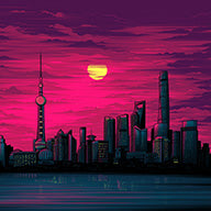 """Shanghai Sunset"""