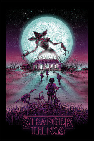 Stranger Things by Barry Blankenship art print