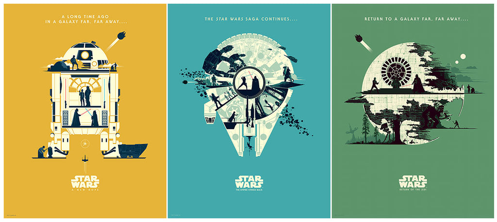 Trilogy Set of 3 by Matt Ferguson | Star Wars
