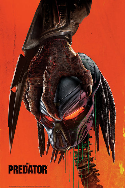 The Predator Movie Poster Dark Ink Bottleneck
