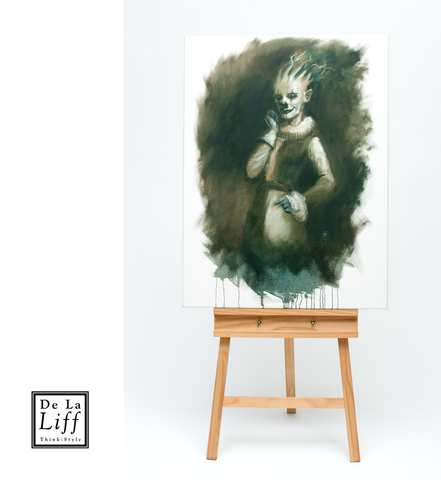 Clown, Art by James Dean, Commissioned Piece, De La lIff, Painting