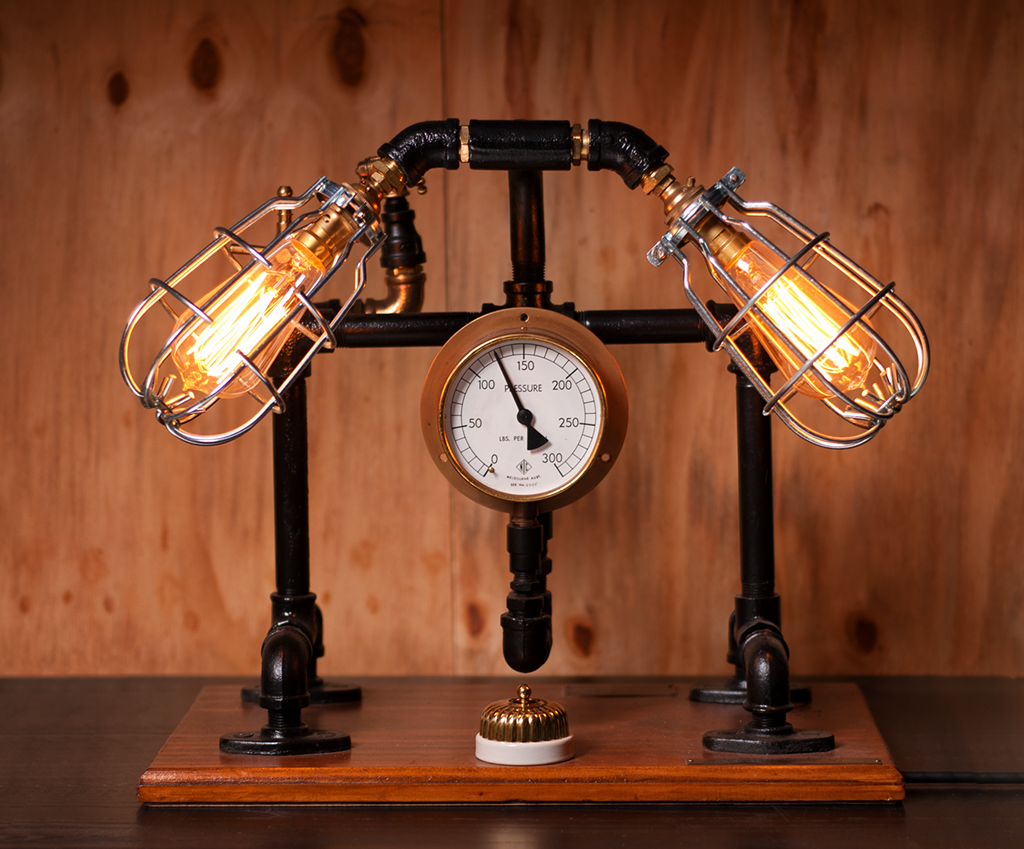 "#sold ""Wood Based Double"" Lamp by Rob Sanders"