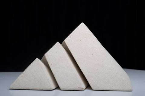"""Pyramids of Giza"" - Sculpted Limestone by Kim Bellette"