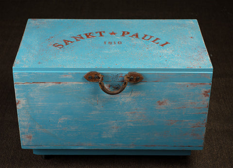 """Sankt Pauli Box"" (on wheels) by Ian Henery"