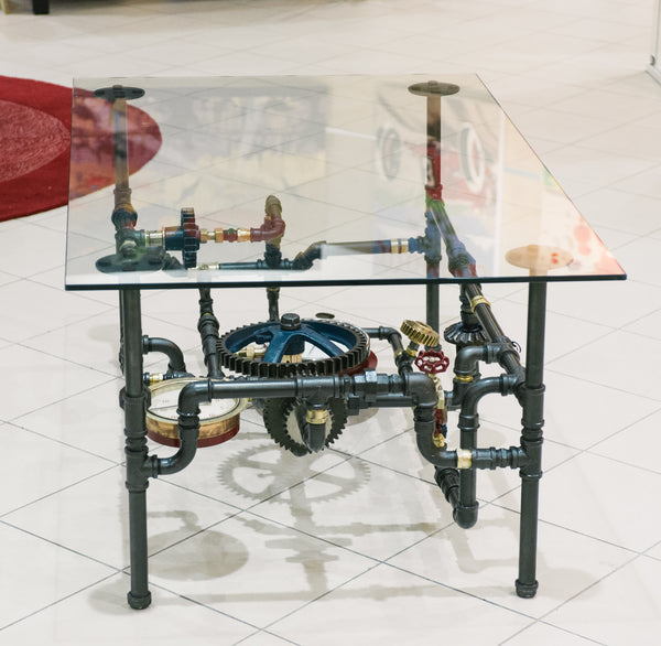 """Agricultural Pipe & Gauges Table (Large)"" by Rob Sanders"