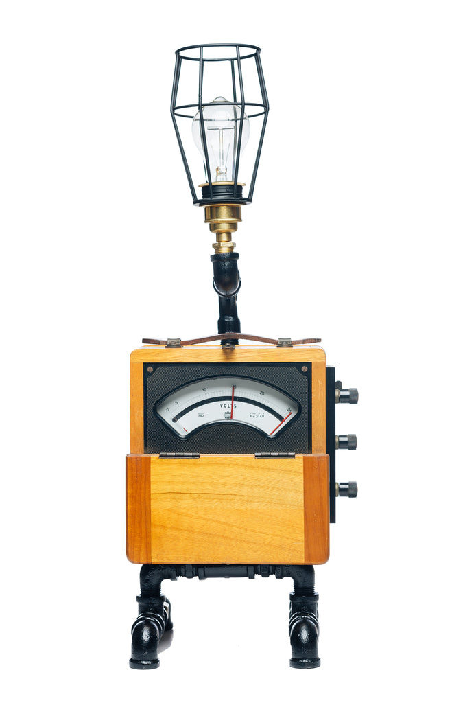 """Vintage Volt Meter Lamp"" by Rob Sanders [RARE ITEMS COLLECTION]"
