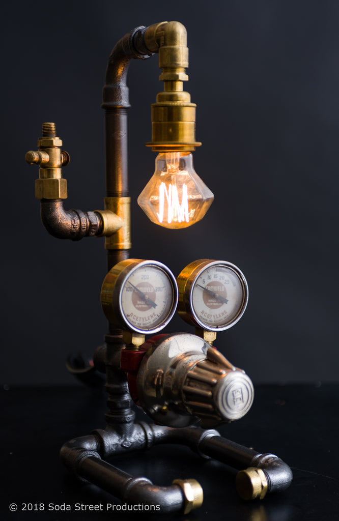 "#sold ""Acetylene Pipe Lamp No. 094"" by Rob Sanders [Rare Collections]"