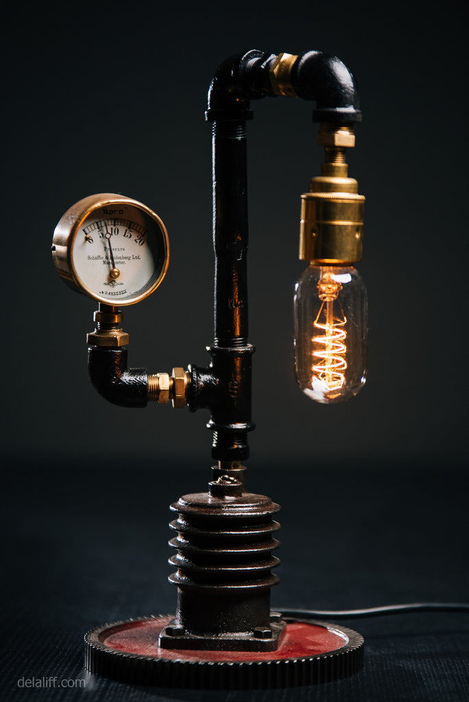"""Air Compressor Lamp #195"" by Rob Sanders at De La Liff Gallery"
