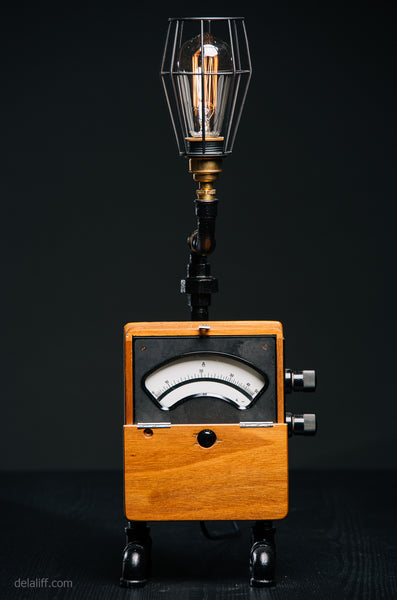 """Vintage Volt Meter lamp #119"" [Rare items Collection] by Rob Sanders at De La Liff Gallery"