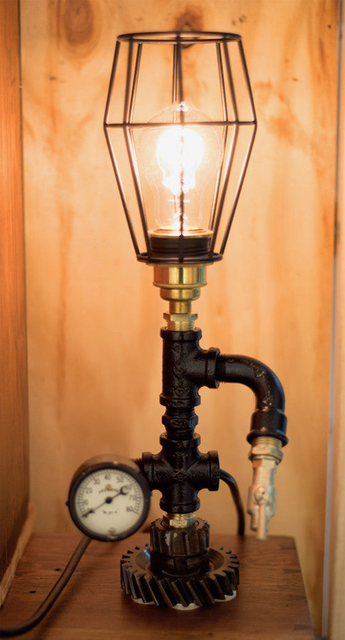 """Chev Gearbox Gear"" Lamp by Rob Sanders"