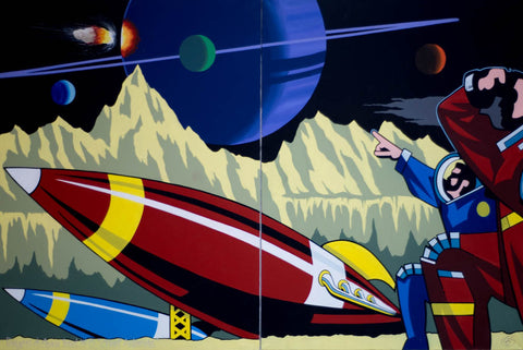 "#Sold ""Dangers of Space Travel No.6 - ""Asteroids"" by Graham Shaw"