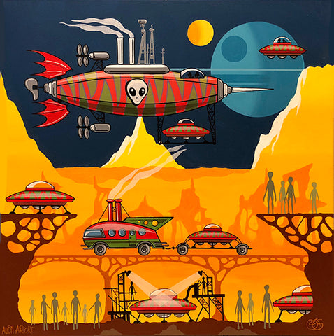 "#sold ""Alien Airport"" by Graham Shaw"