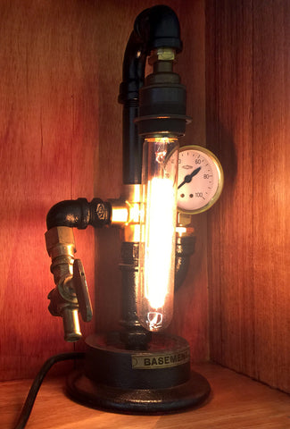 "#sold ""Basement Wheel"" Lamp by Rob Sanders"