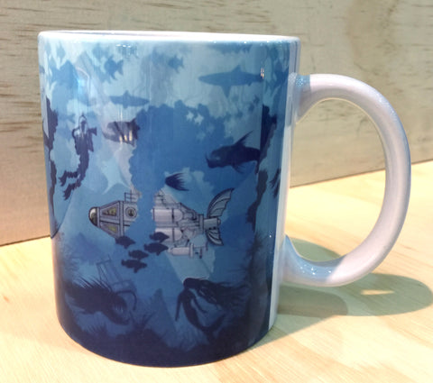 """What Lies beneath"" Art Mug by Graham Shaw"