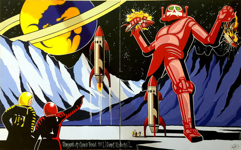 "#Sold ""Dangers of Space Travel No #1. ""Giant Robots"""" by Graham Shaw"