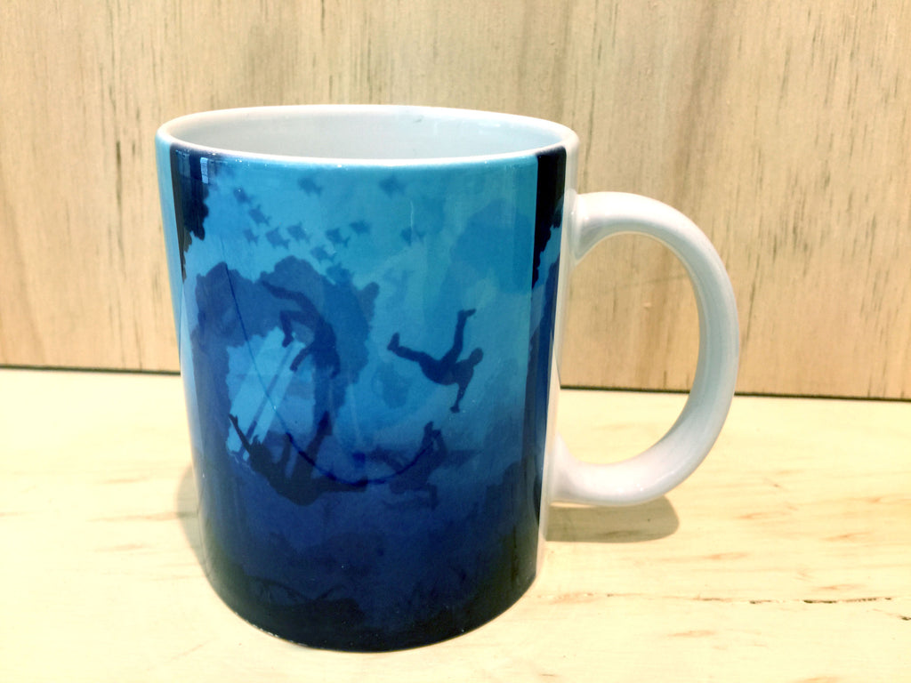 "#sold ""Bad Bridge"" Ceramic mug by Graham Shaw"