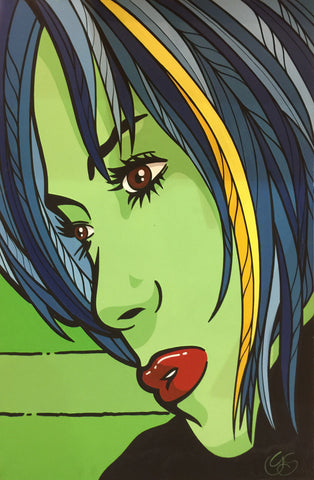 """Nebula girl"" (Green) by Graham Shaw (G)"