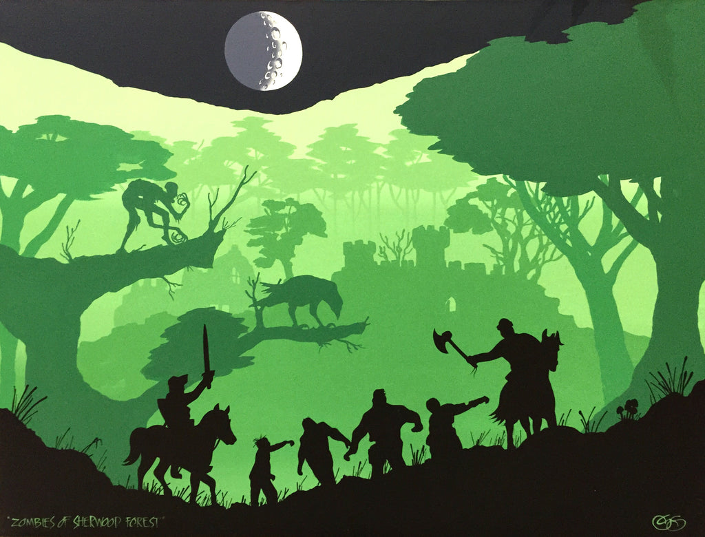 """Zombies of Sherwood forest"" by Graham Shaw"