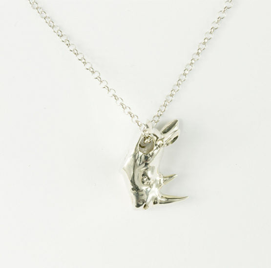 """Her heart was wild like his"" Sterling Silver Pendant by Gillie and Marc"