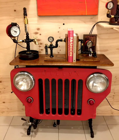 """Jeep Grill Table"" by Rob Sanders [RARE ITEMS COLLECTION]"