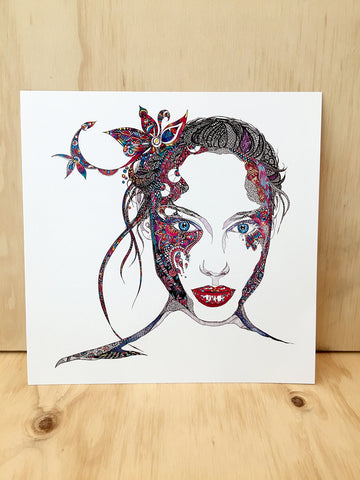 """Nina"" Art Card by Mandi Glynn-Jones"