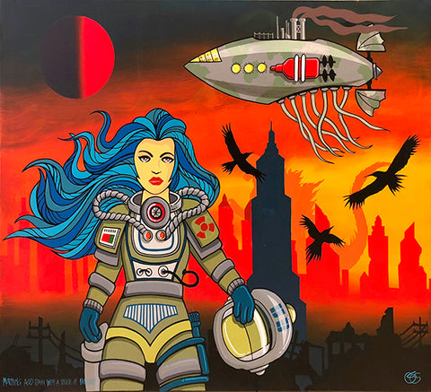 "#sold ""Morning Acid Rain with a touch of Fallout"" by Graham Shaw"