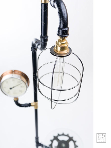 "#sold ""Hart Sprocket & Pulley Standard Lamp"" by Rob Sanders"