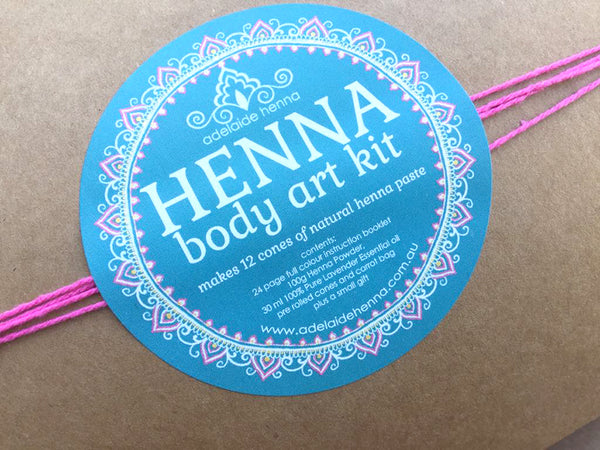 "Henna Body Art Kit (12 cones)"" by Linda Bell"