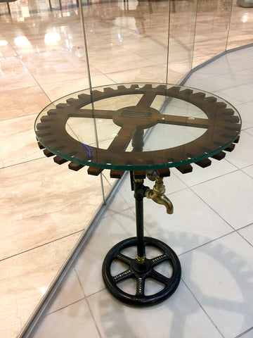 "#sold ""Sprocket Side Table (round)"" by Rob Sanders"