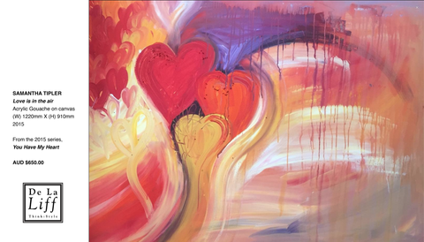 "#SOLD ""Love is in the Air"" by Samantha Tipler"
