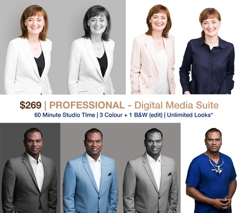 $269 | PROFESSIONAL SUITE - 4 HEADSHOT PHOTOGRAPHY PORTRAITS