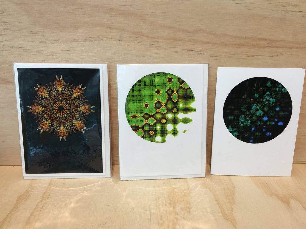 """Organic. Spiritual.Technological"" - Fine art Cards by Gaire Kahika Tané"