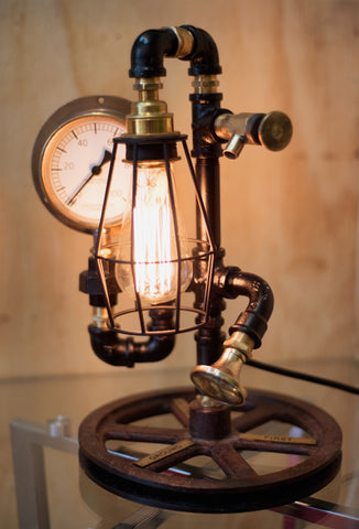 """Lift Pulley"" Lamp by Rob Sanders"