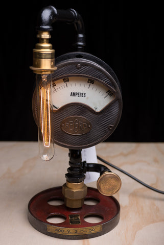"""Record Ampres Gauge"" Lamp by Rob Sanders"