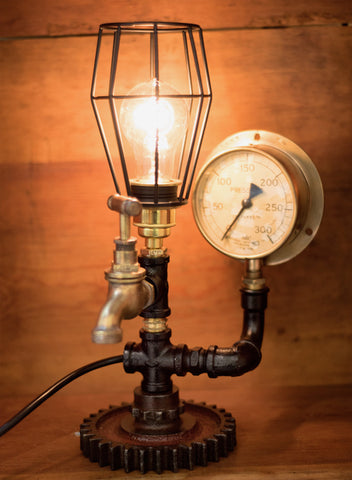 """SA Railways Gauge"" Lamp by Rob Sanders"