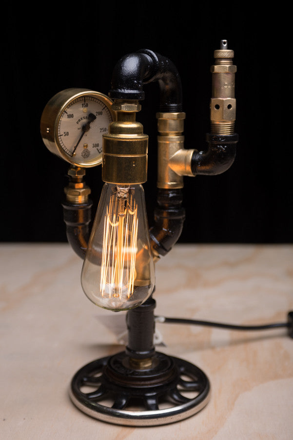 """Sewing Machine Wheel Pressure Relief Valve"" Lamp by Rob Sanders"