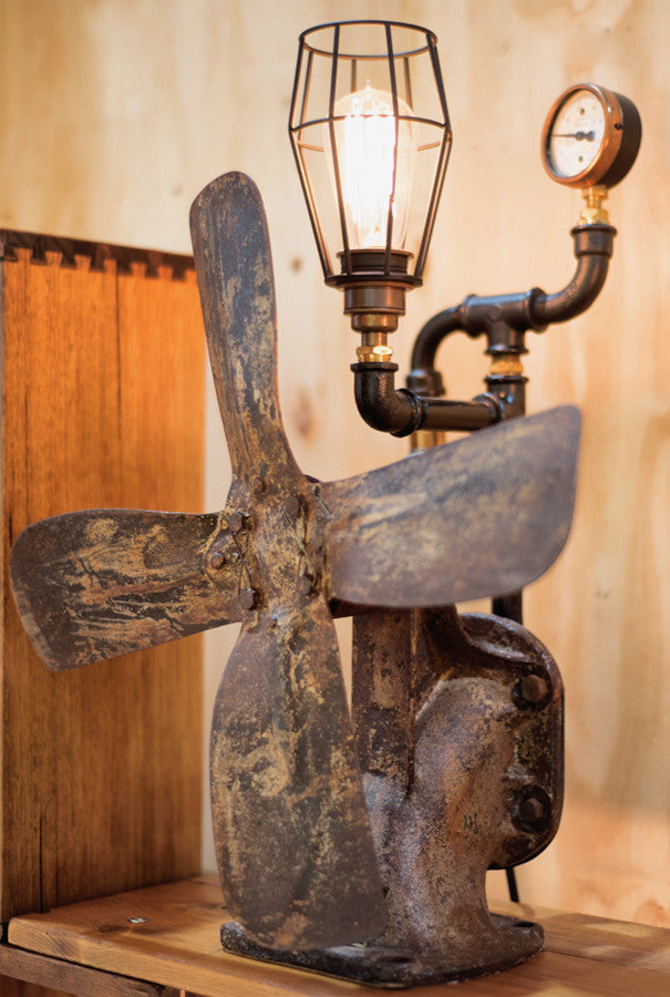 """Tractor Water Pump"" Lamp by Rob Sanders"