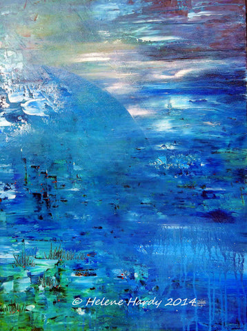 "#sold ""Blue Moon"" by Helene Hardy"
