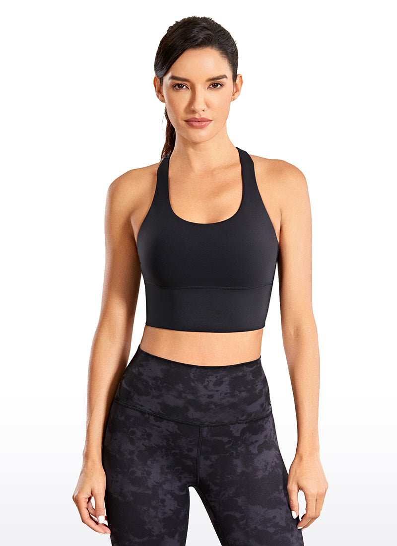 Free Feeling Strappy Sports Wirefree Padded Longline